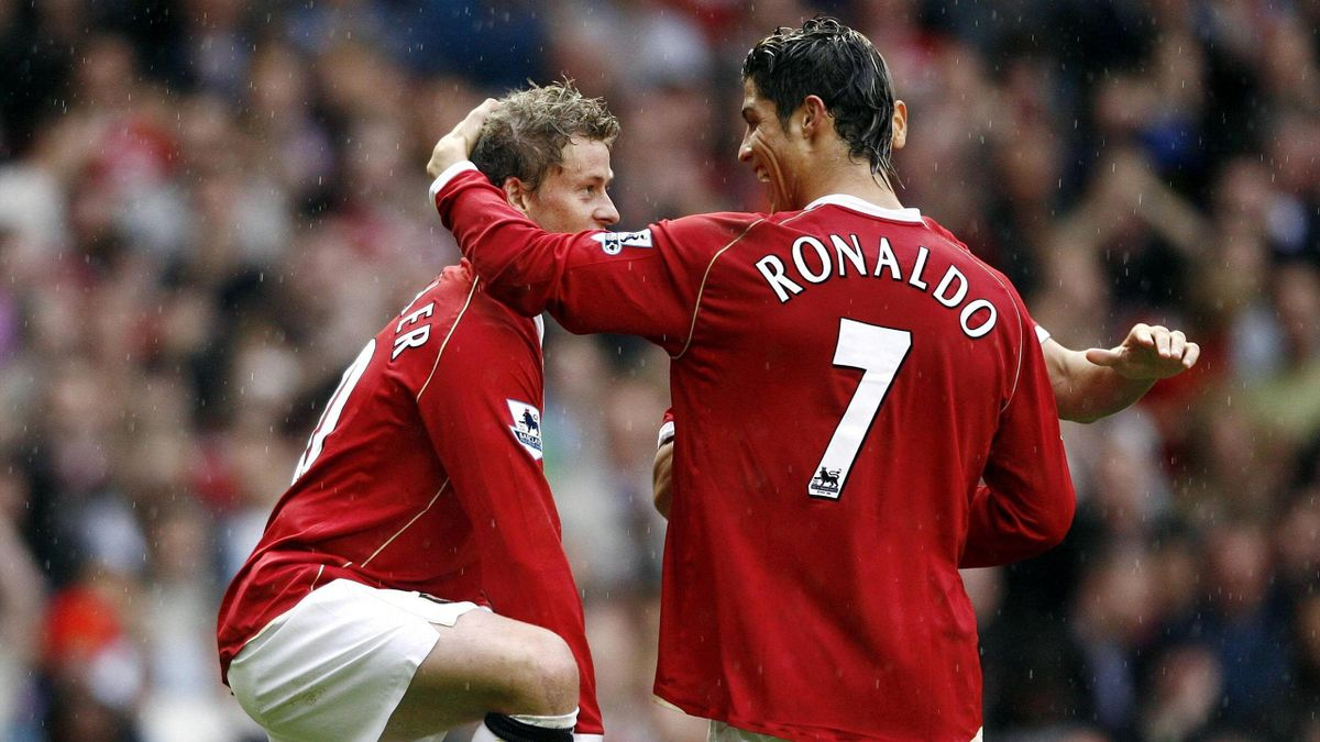 Solskjaer e Cristiano Ronaldo