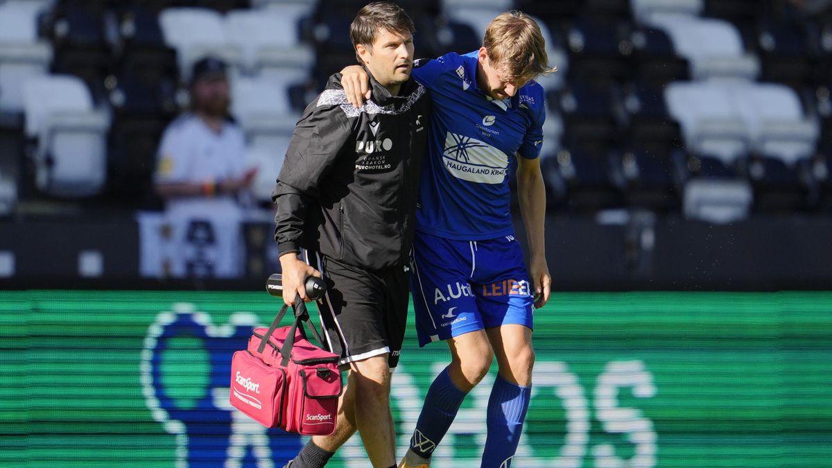 Niklas Sandberg måtte gå av med skade mot RBK.