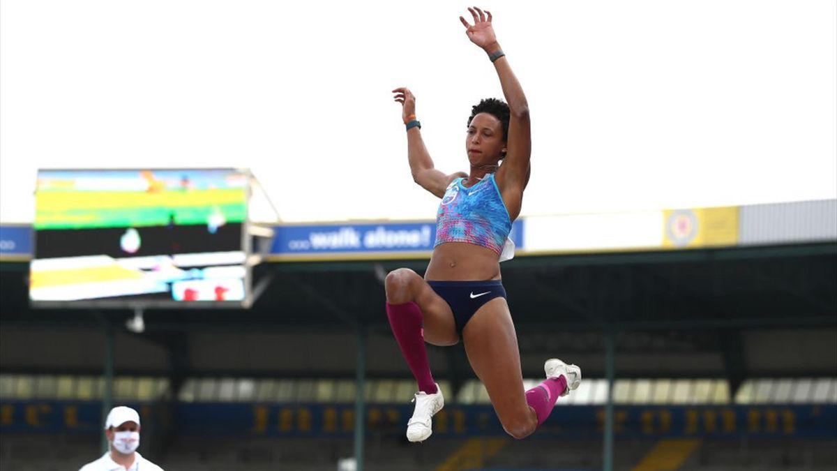 Malaika Mihambo sprang in Dessau mit 7,03 Meter Weltjahresbestleistung
