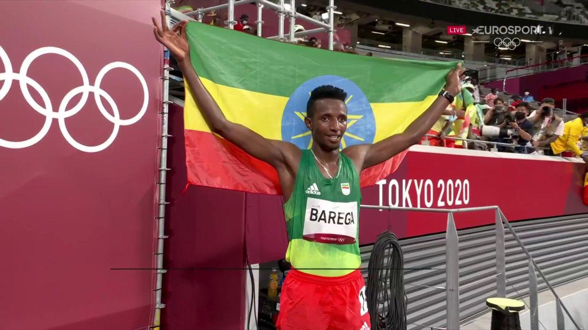 'Ethiopia top the podium' - Barega wins gold in dramatic 10,000m