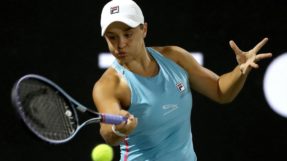 Ashleigh Barty was given a tough time by Shelby Rogers