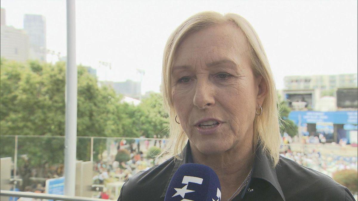 Australian Open : Martina Navratilova interview