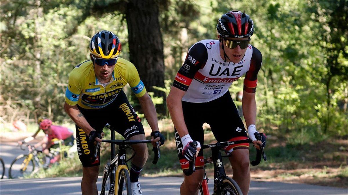 Primoz Roglic and Tadej Pogacar, Tour Basque Country 2021