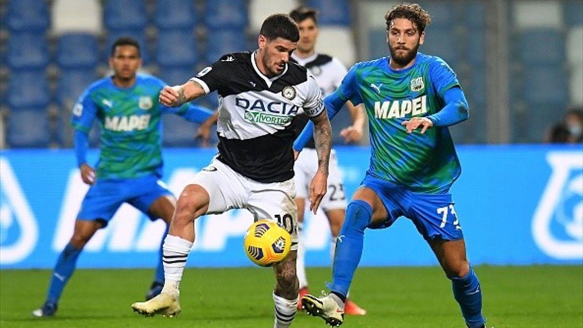 De Paul e Locatelli - Sassuolo-Udinese - Serie A 2020-2021