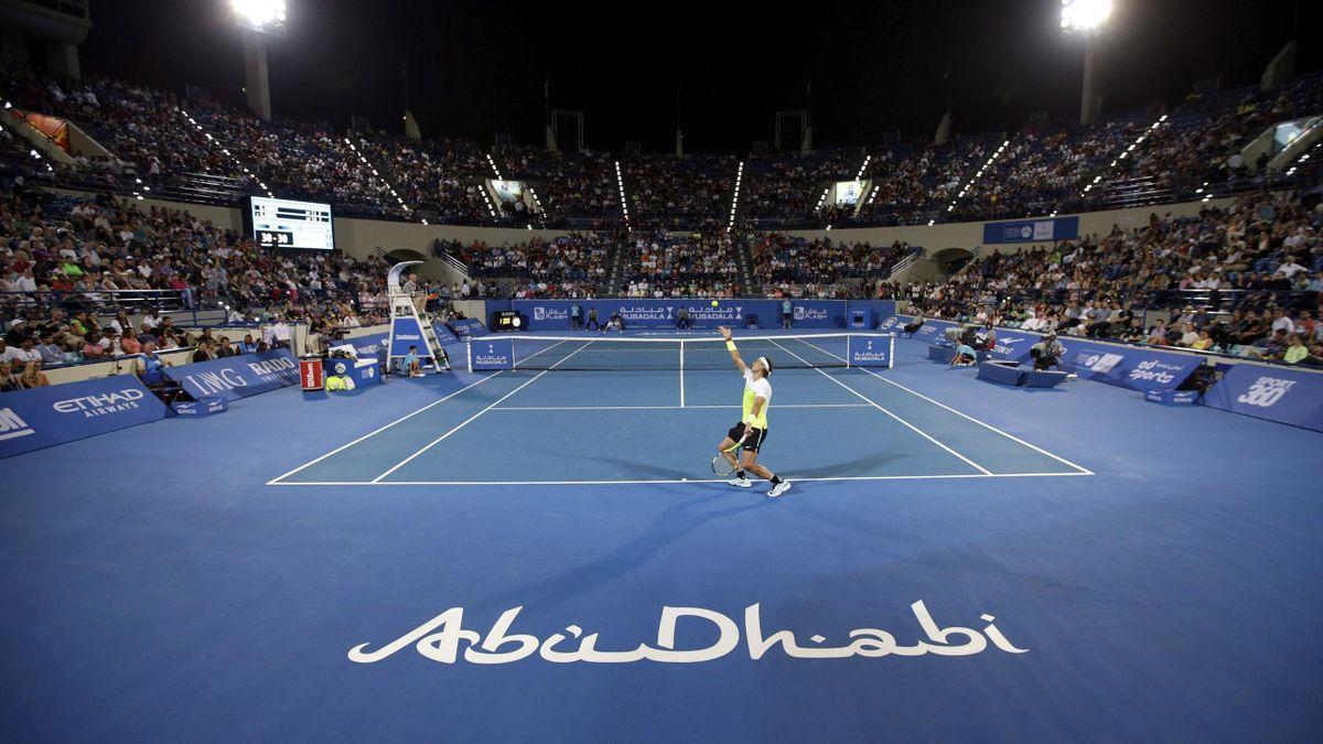 Rafa Nadal y David Ferrer en Abu Dabi