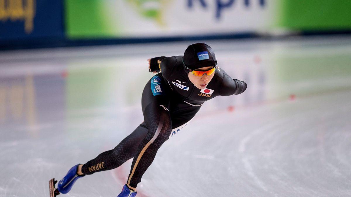 Japan's Miho Takagi competes