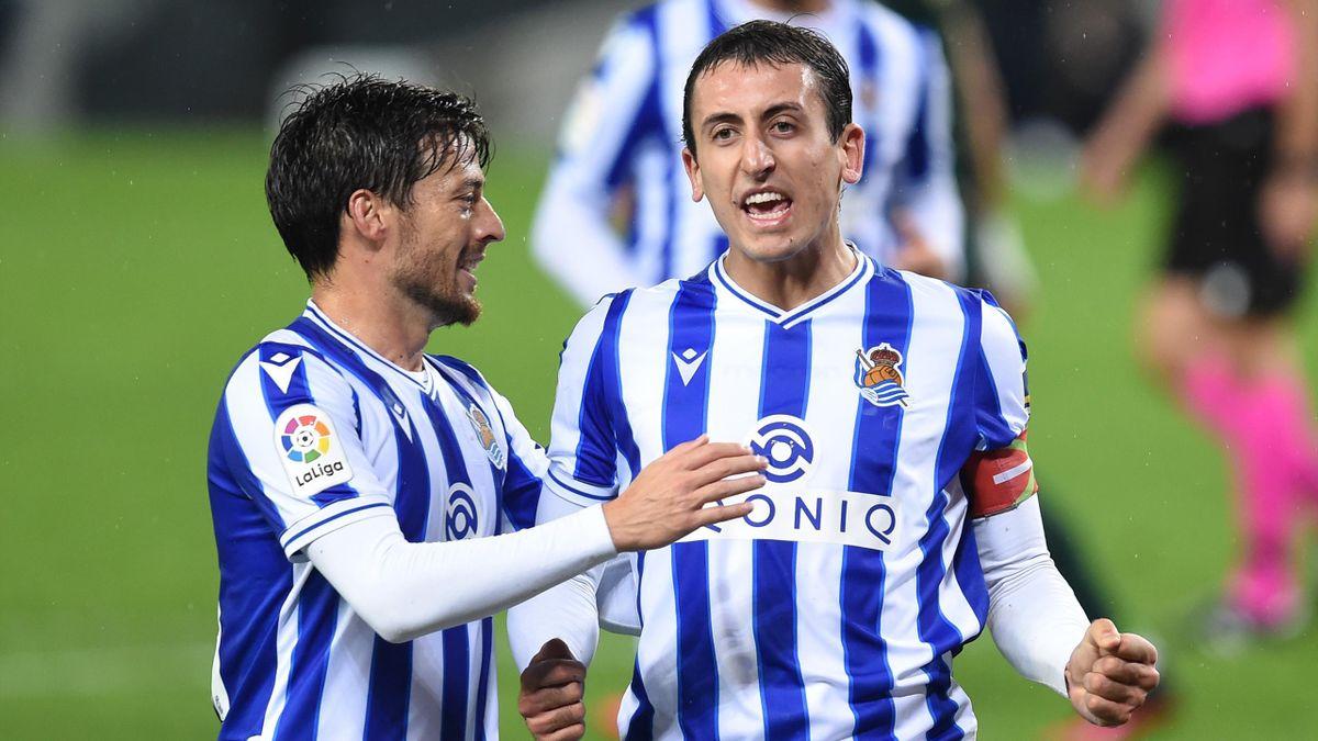 David Silva y Mikel Oyarzabal (Real Sociedad)