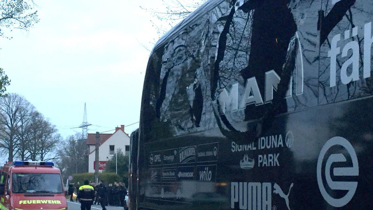 Le bus du Borussia Dortmund
