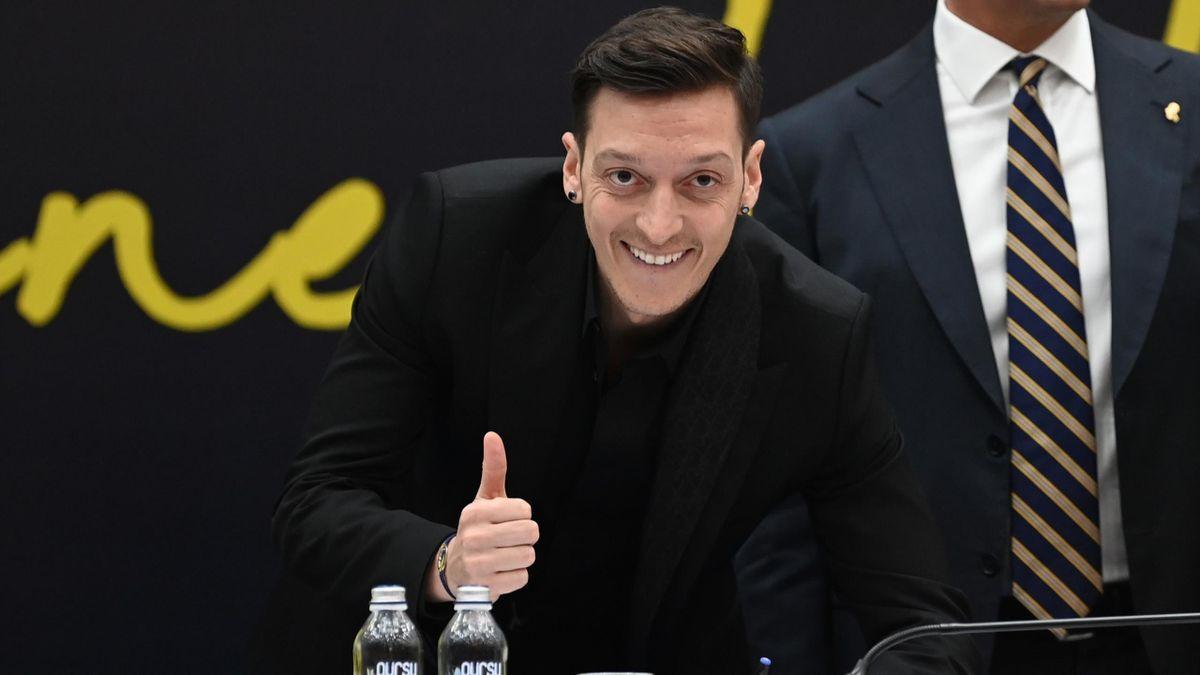 Mesut Ozil at his presentation as a Fenerbahce player