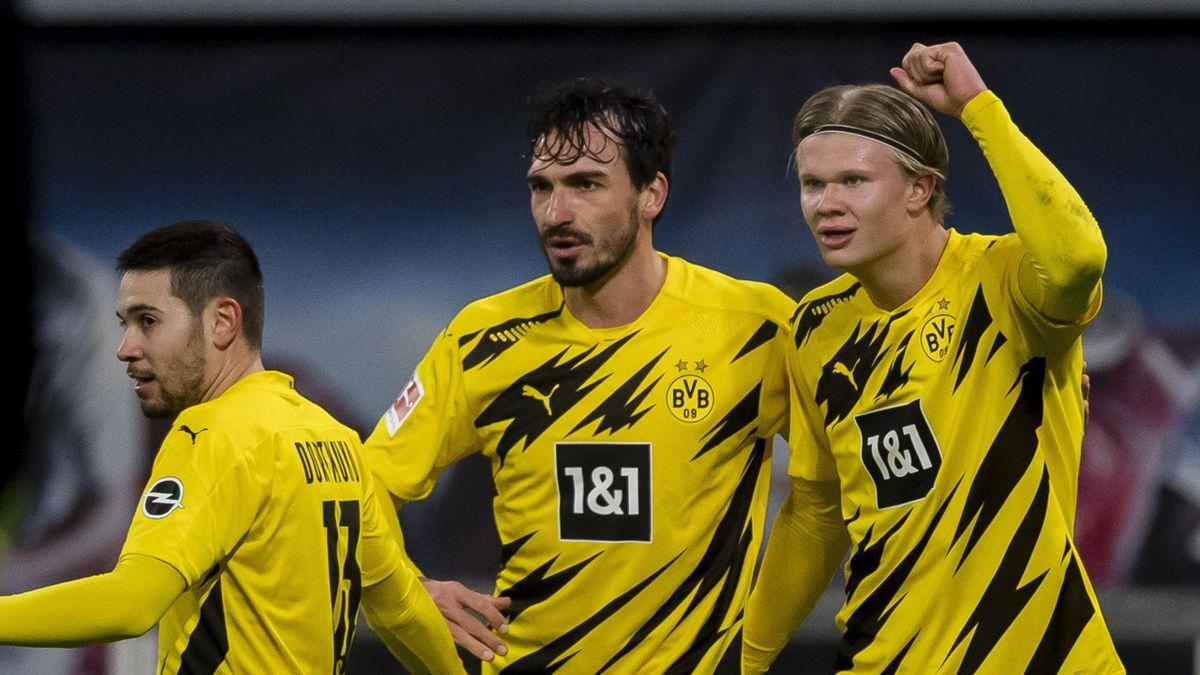 Mats Hummels (l.) und Erling Haaland (r.)