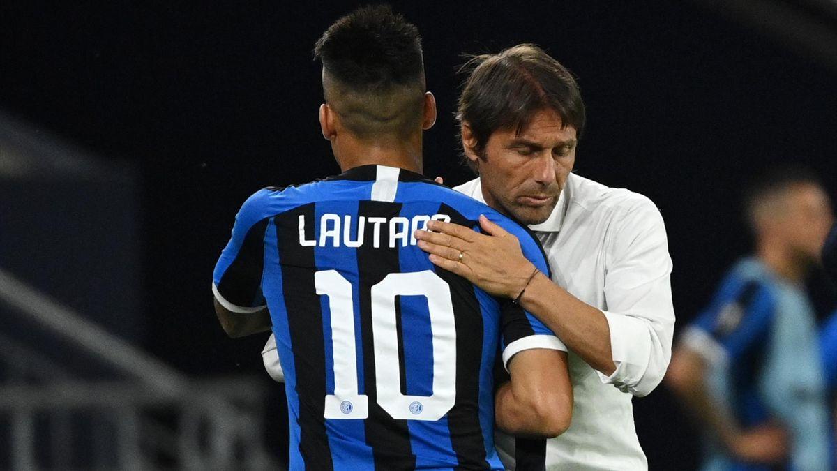Lautaro Martinez, Antonio Conte - Inter-Getafe - Europa League 2019/2020 - Getty Images