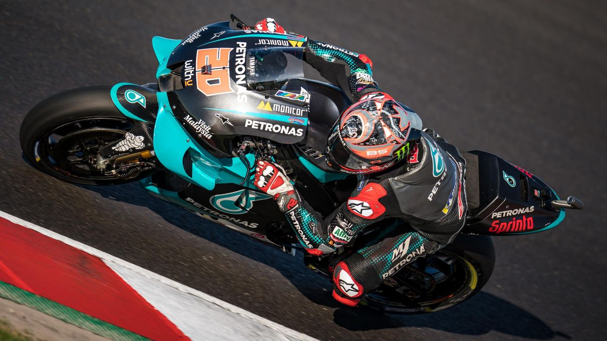 Fabio Quartararo (Yamaha Petronas SRT) lors du Grand Prix du Portugal 2020