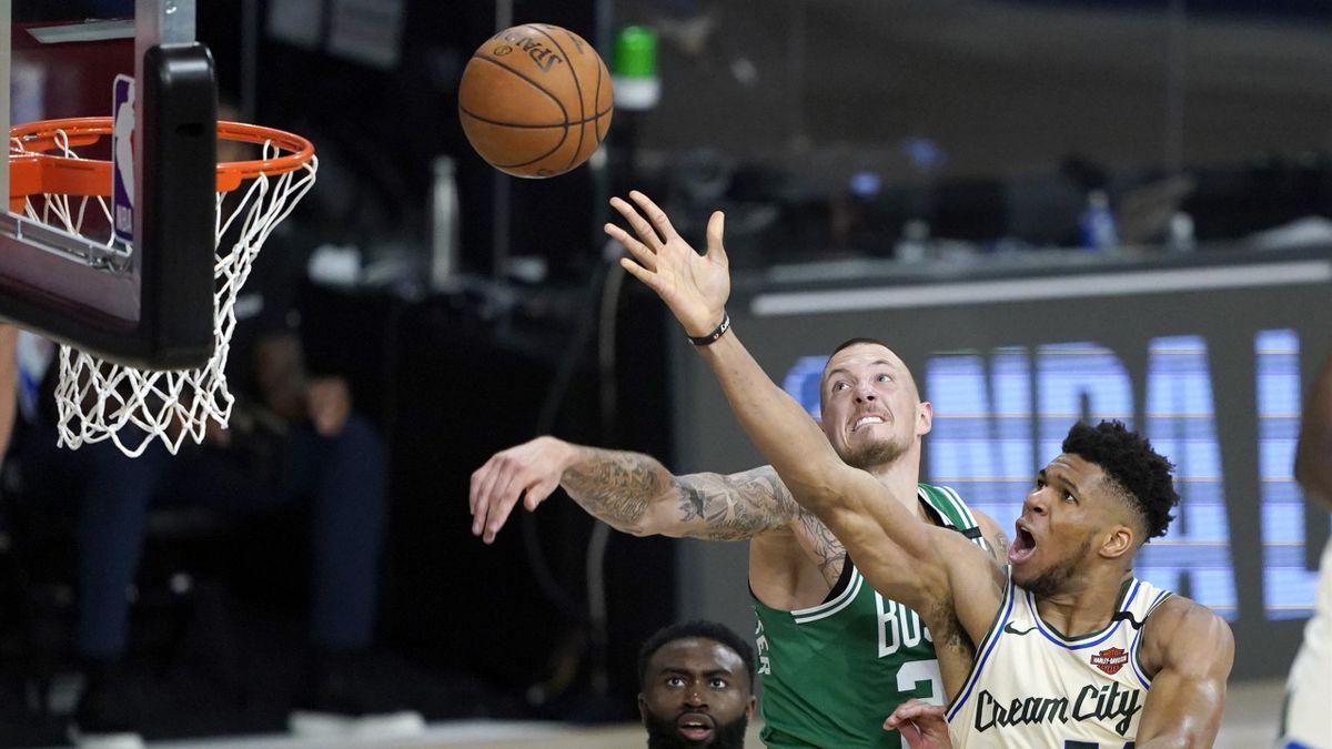 Giannis Antetokounmpo (Milwaukee Bucks) face aux Boston Celtics