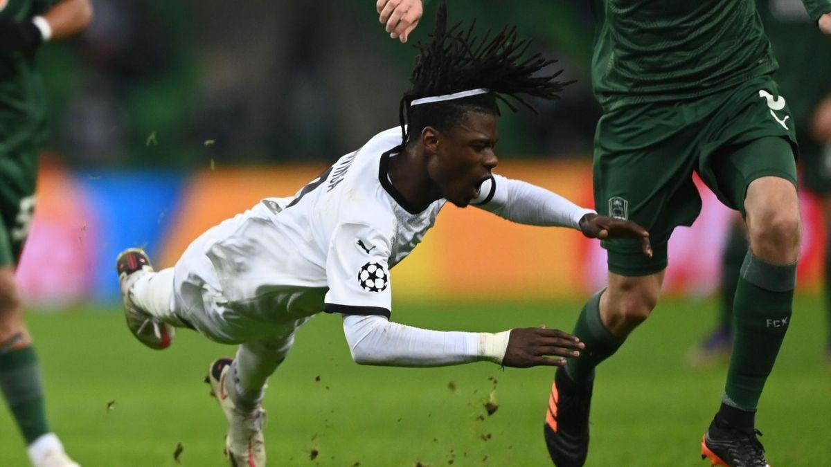 Edouardo Camavinga (Rennes) face à Krasnodar