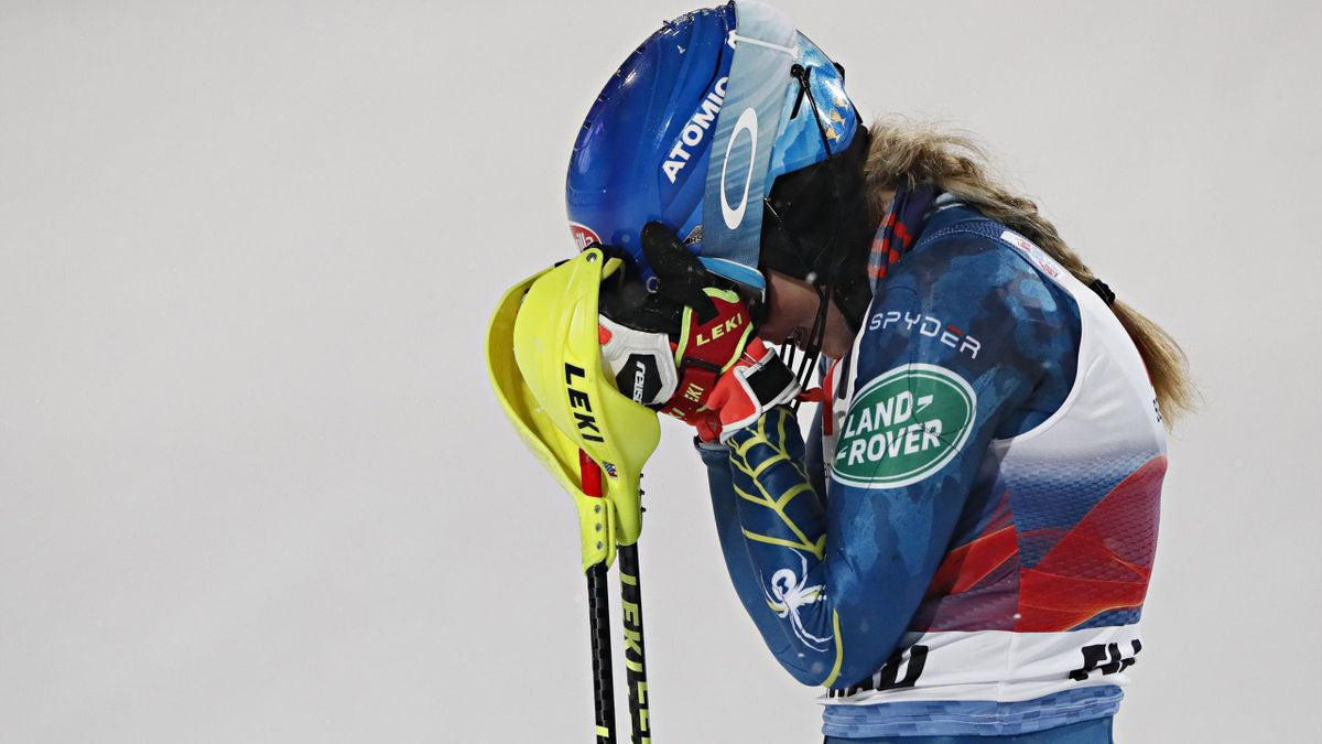 Mikaela Shiffrin of USA takes 1st place during the Audi FIS Alpine Ski World Cup Women's Slalom on January 12, 2021 in Flachau Austria