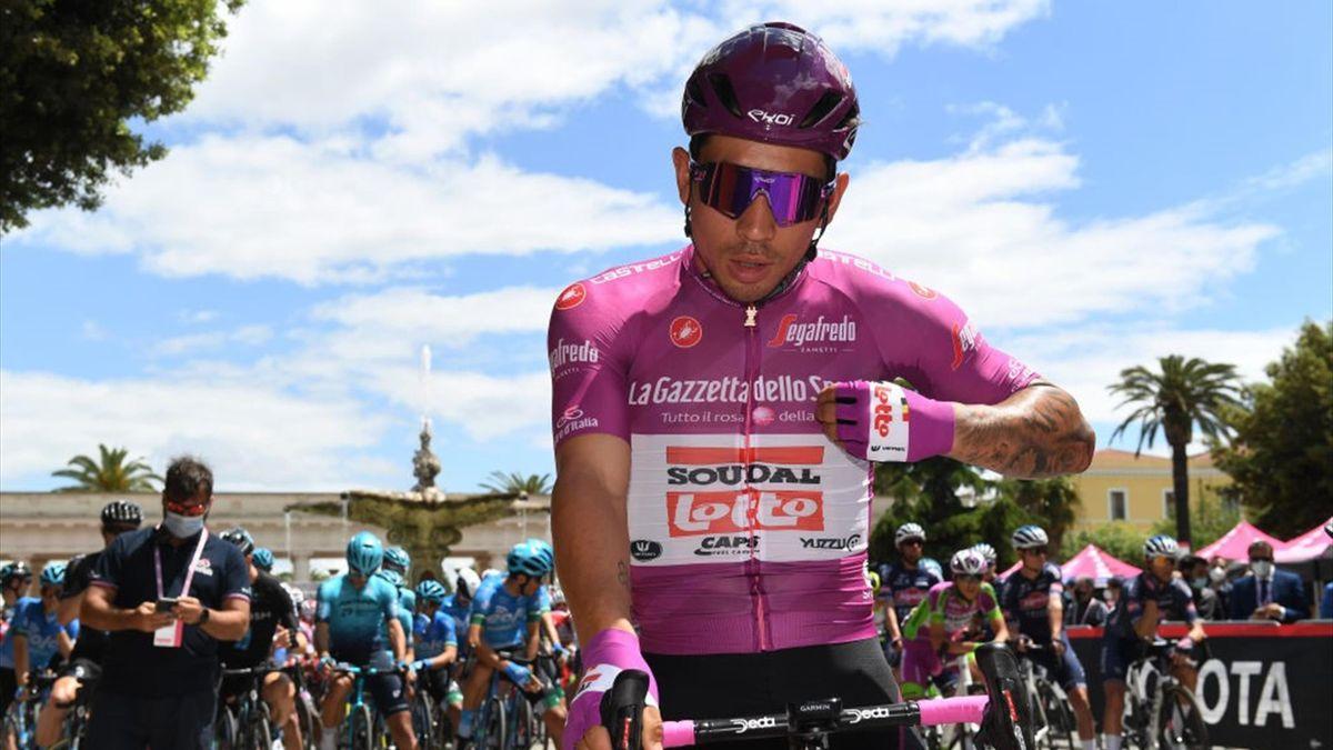 Caleb Ewan alla partenza della Foggia-Guardia Sanframondi - Giro d'Italia 2021