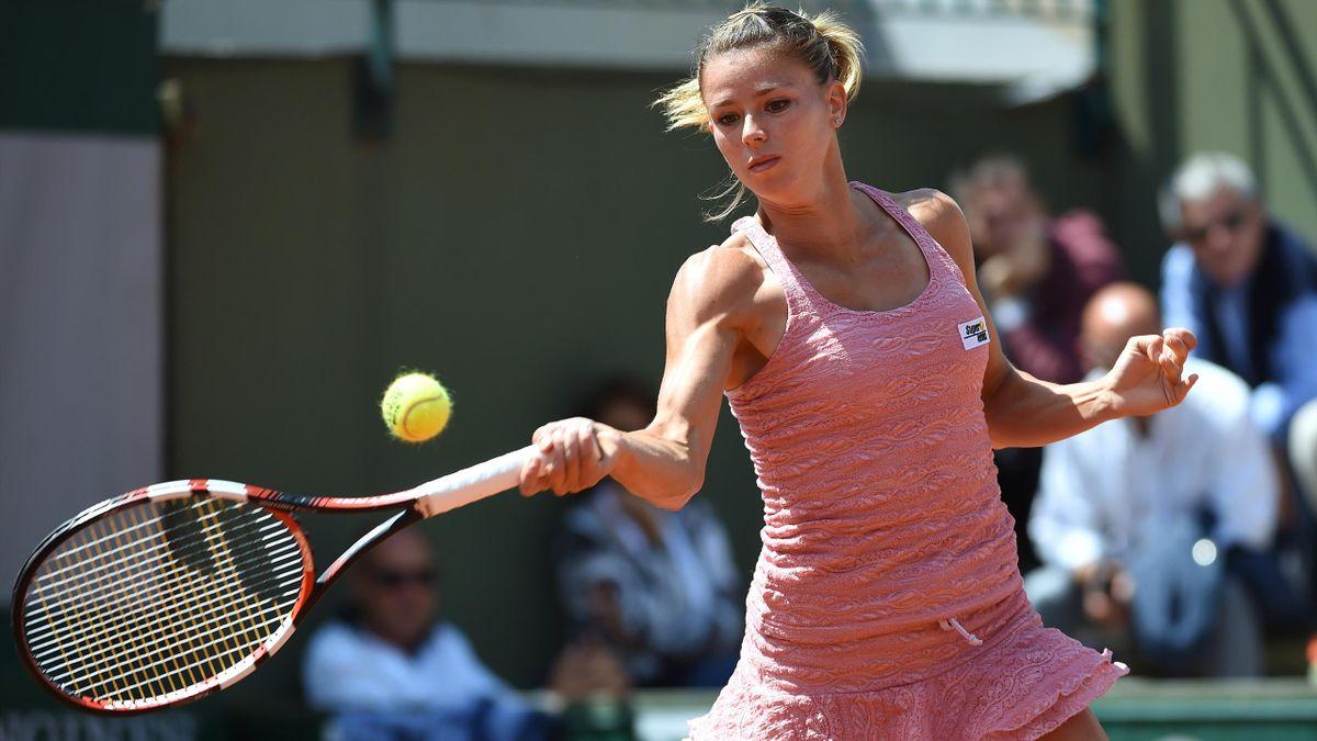 Camila Giorgi impegnata al Roland Garros 2015 - AFP