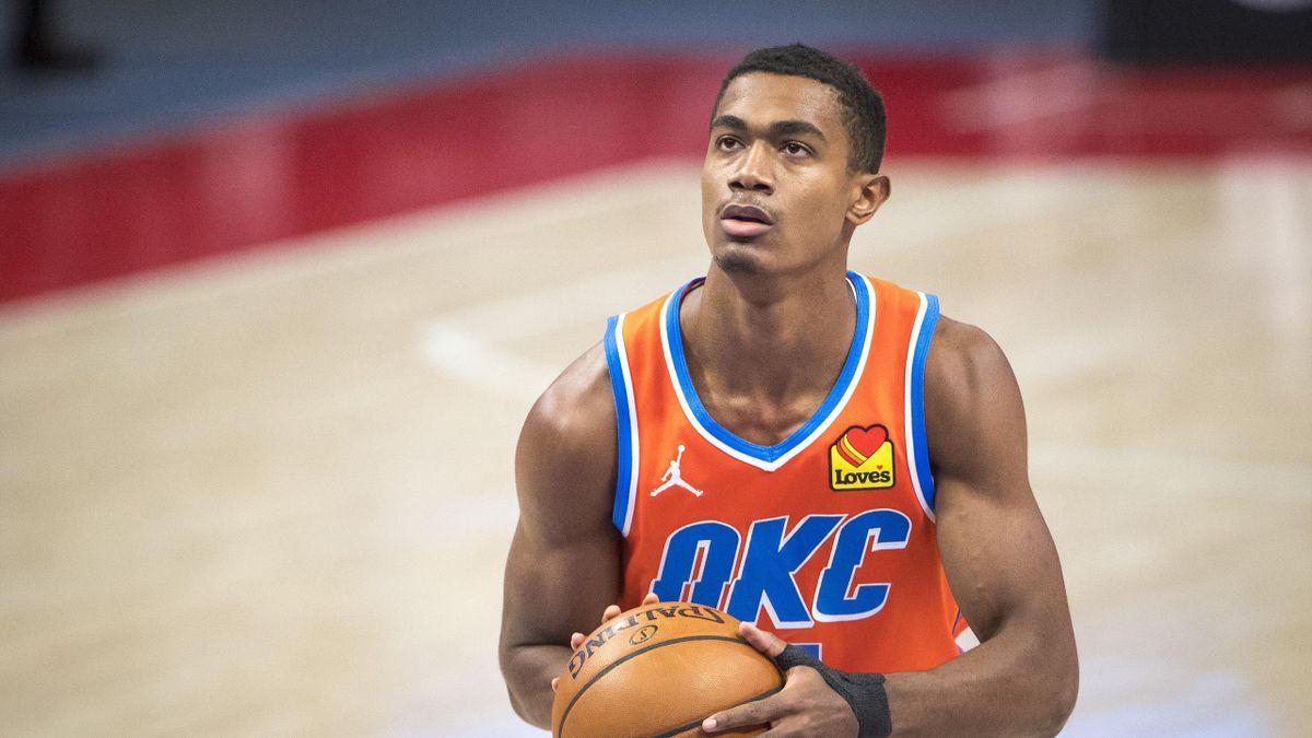 Théo Maledon, en vue avec OKC pour sa première saison en NBA
