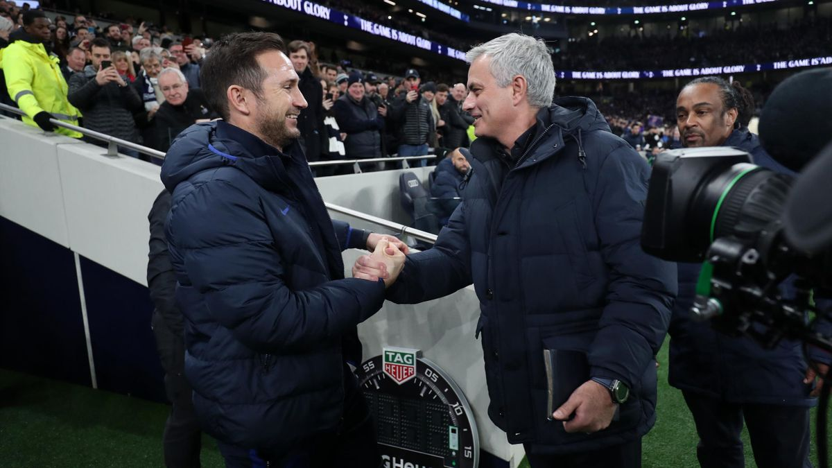 Lampard saluta Mourinho prima di Tottenham-Chelsea