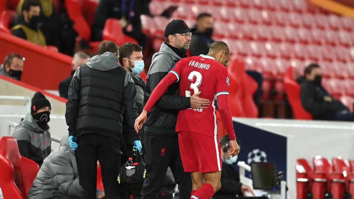 Jürgen Klopp und Fabinho (FC Liverpool)