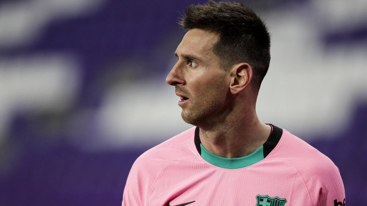 Lionel Messi of FC Barcelona during the La Liga Santander match between Real Valladolid v FC Barcelona
