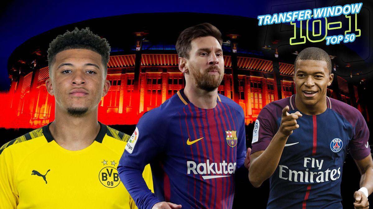 Jadon Sancho Lionel Messi and Kylian Mbappe