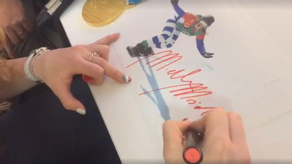L'autografo di Michela Moioli