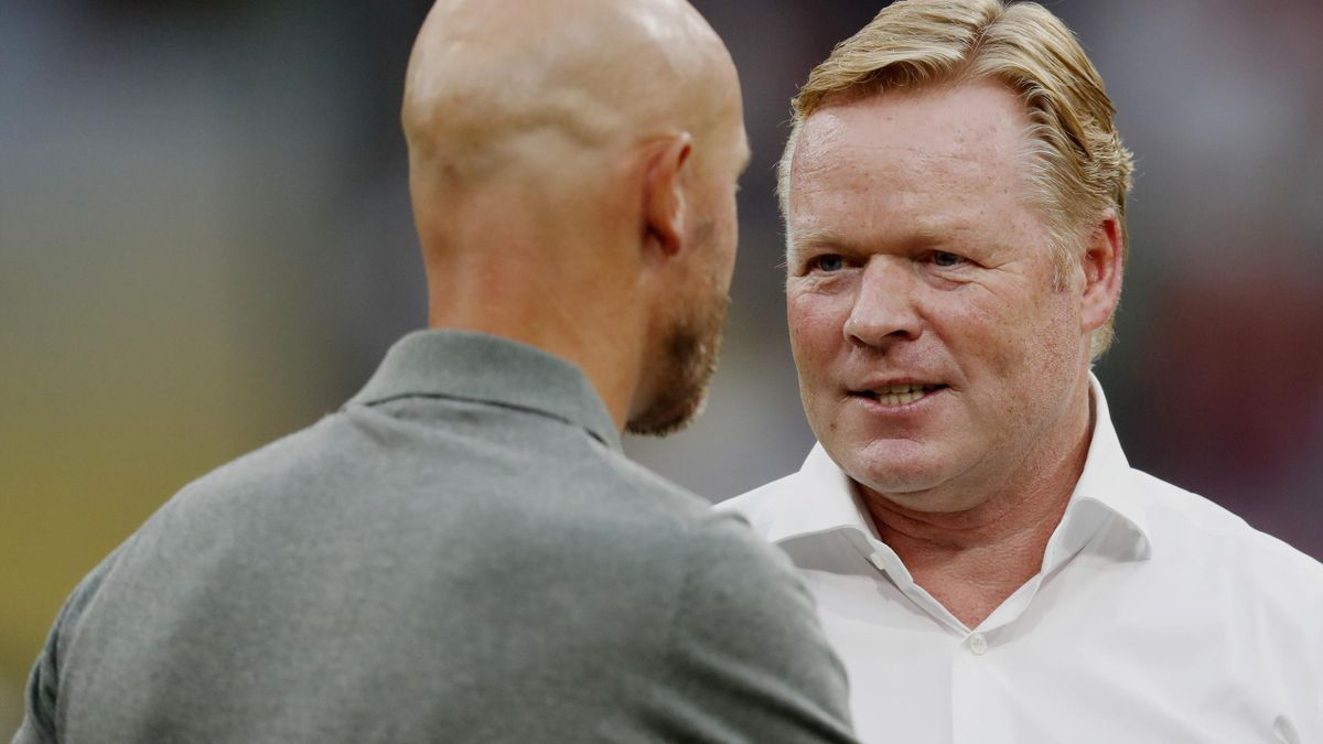 Ten Hag și Koeman, pe vremea când erau rivali în Olanda, într-un Ajax-PSV