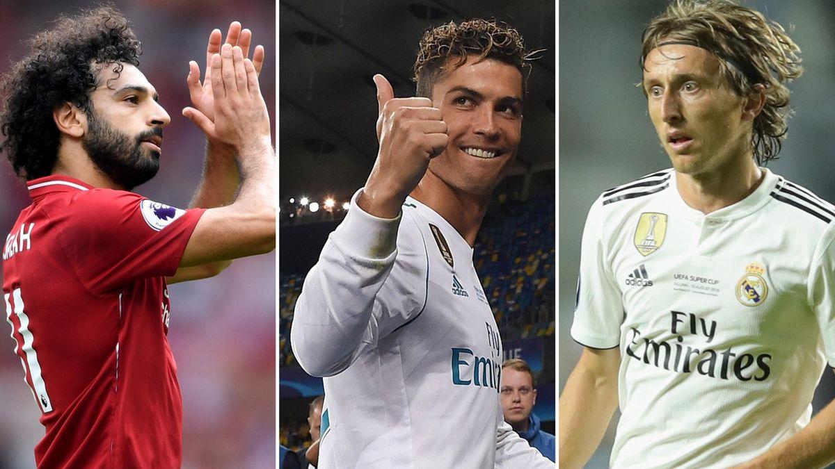 Mohamed Salah, Cristiano Ronaldo, Luka Modric