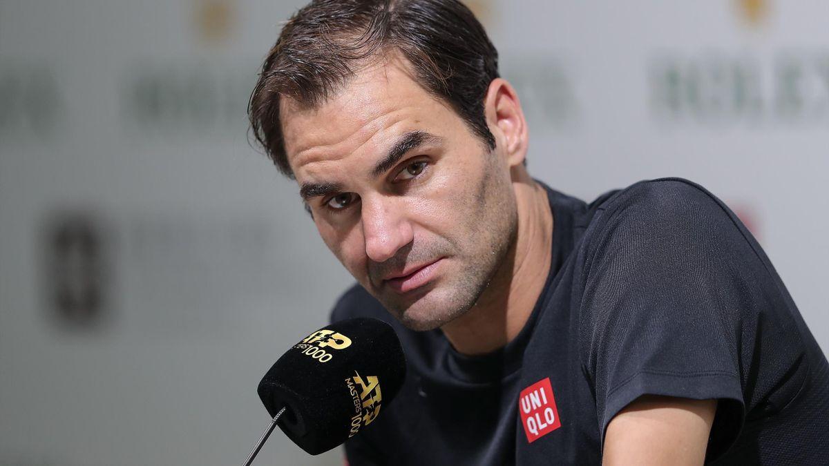Pressekonferenz mit Roger Federer