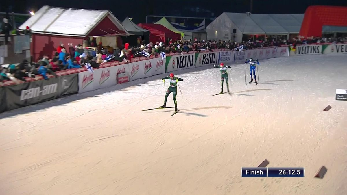 Nordic Combined : finishline