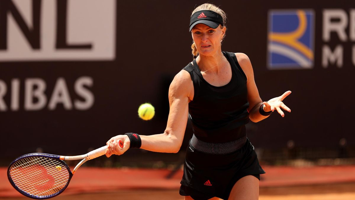 Kristina Mladenovic à Rome en 2021