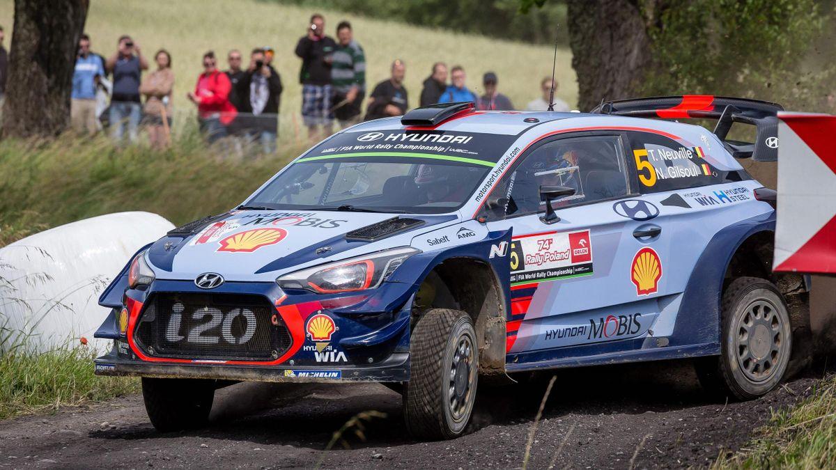 Thierry Neuville sur le Rallye de Pologne.