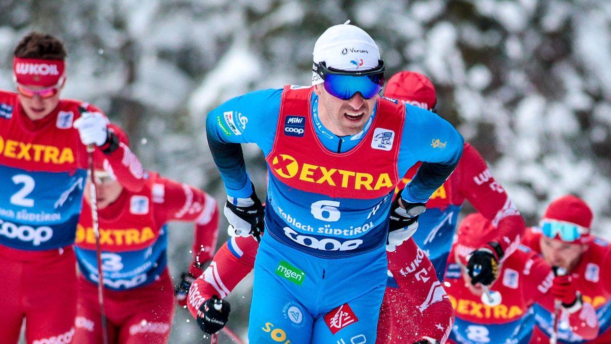 Maurice Manificat lors du Tour de ski 2020-2021, à Toblach