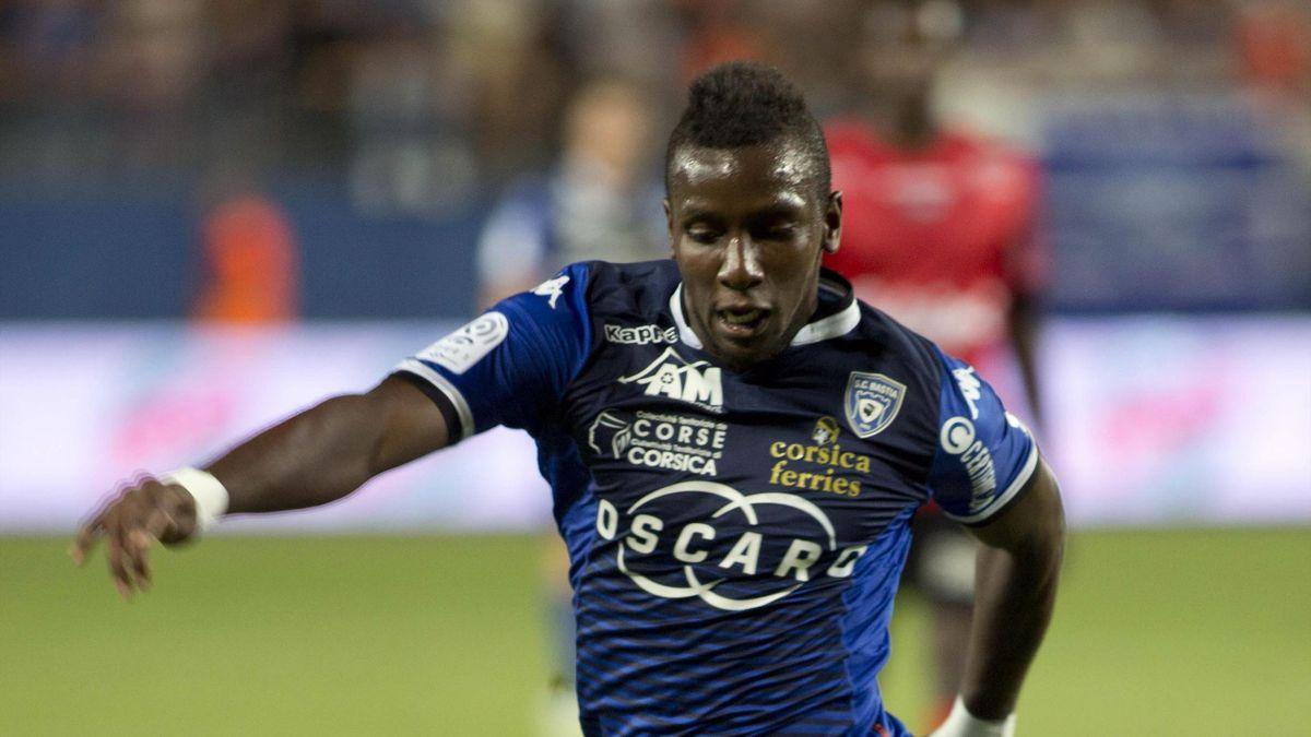 Christopher Maboulou sous le maillot de Bastia en 2014-15