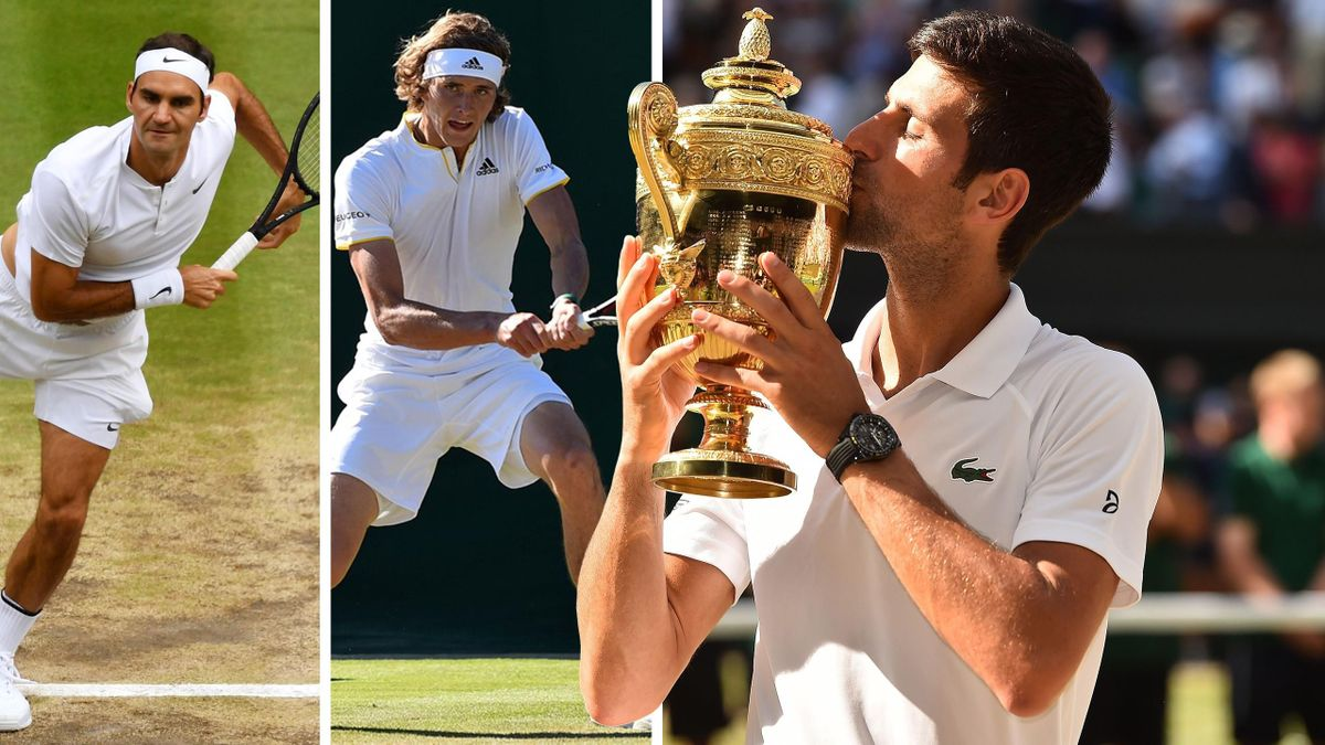 Wimbledon: Federer, Zverev, Djokovic (v.l.n.r.)