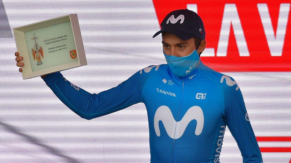Marc Soler (Movistar), vainqueur de la 2e étape du Tour d'Espagne 2020