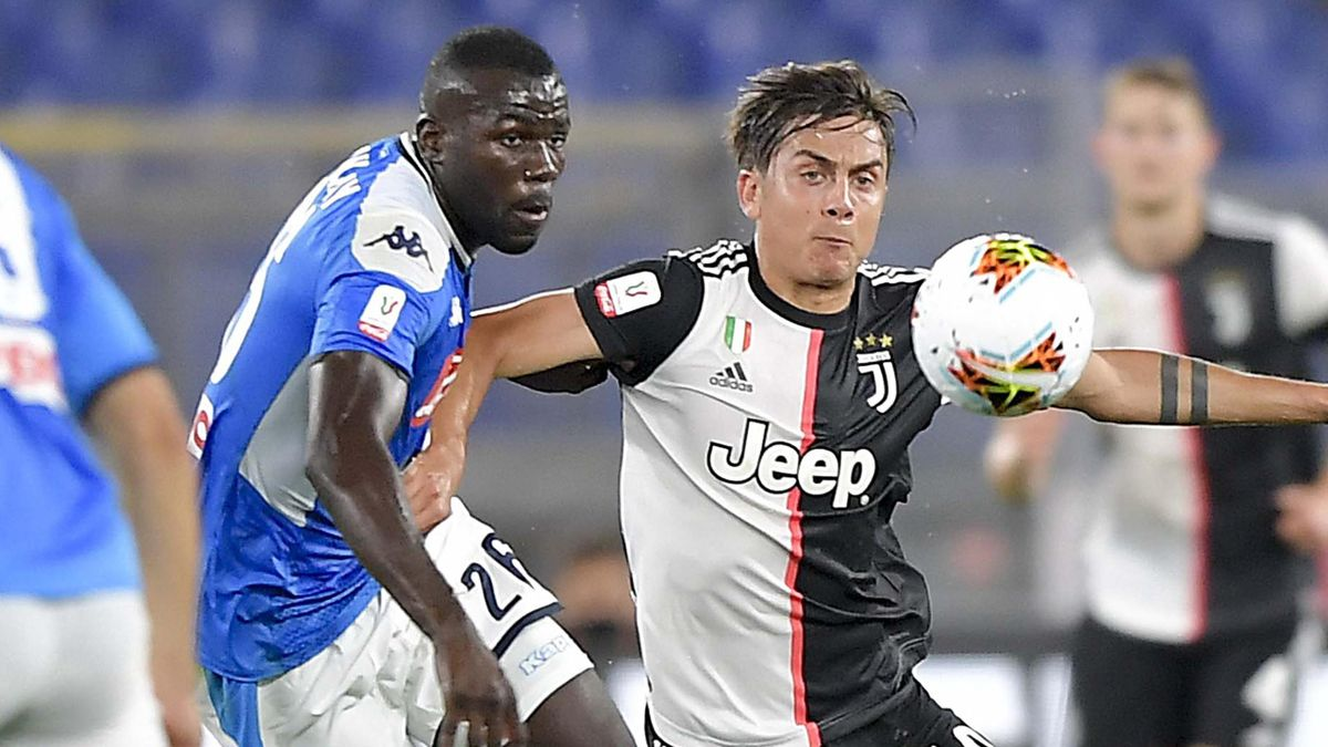 Paulo Dybala e Kalidou Koulibaly in Napoli-Juventus