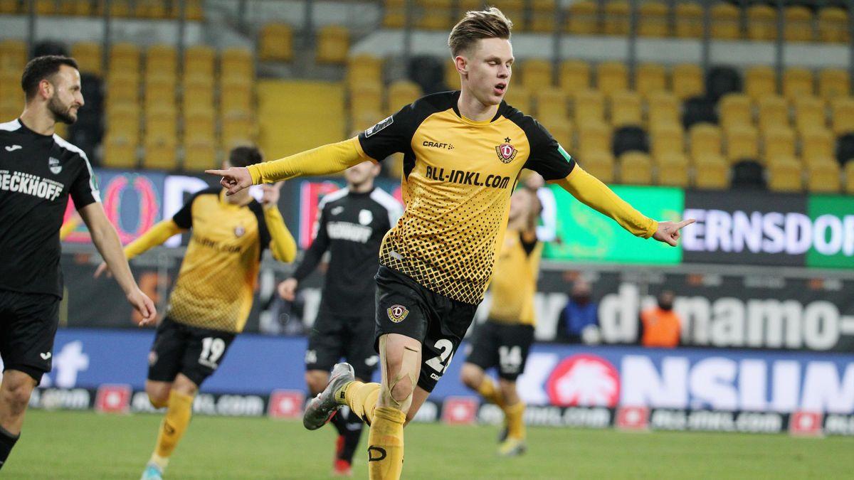 Julius Kade und Dynamo Dresden besiegten den SC Verl