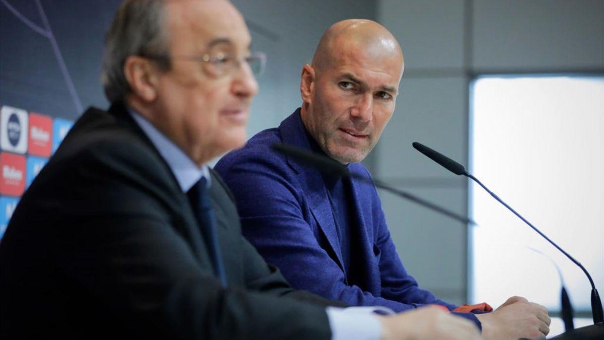 Zinedine Zidane, Real Madrid, Florentino Pérez