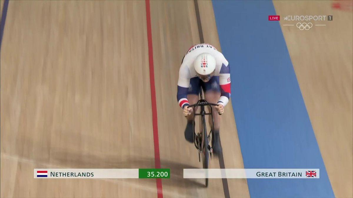 'Boom!' - Netherlands break Olympic record as GB take team sprint silver