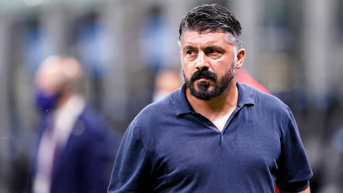 Gennaro Gattuso, head coach of Ssc Napoli, during the Serie A match between Fc Internazionale and Ssc Napoli. Internazionale fc wins 2-0 over Ssc Napoli.