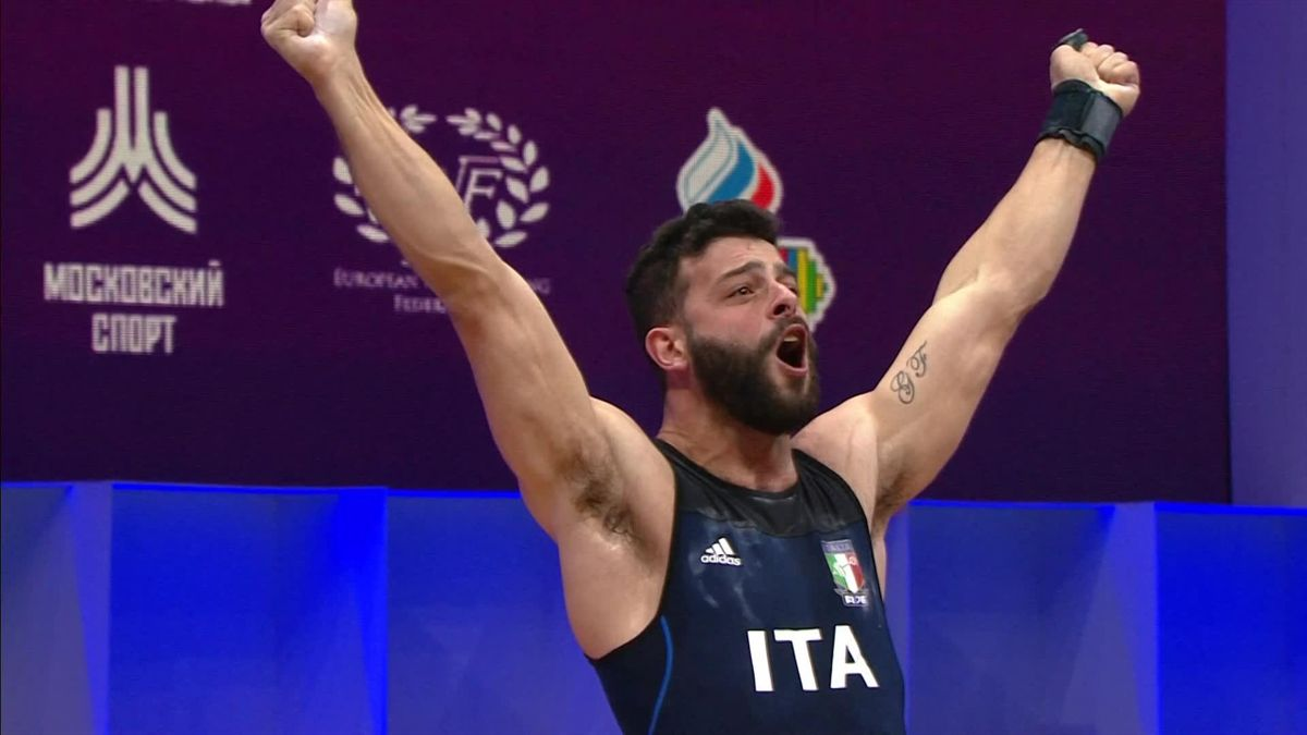 WEIGHTLIFTING EUROPEAN CHAMPIONSHIP RUSSIA FINAL 81KG MEN : Pizzolato winner Clean and Jerk 206kg