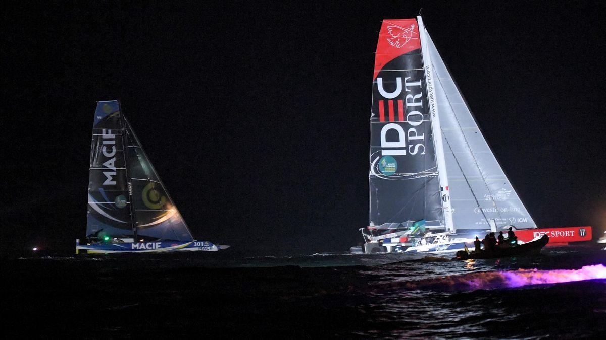 Joyon (Idec Sport) et Gabart (Macif) sur la Route du Rhum 2018
