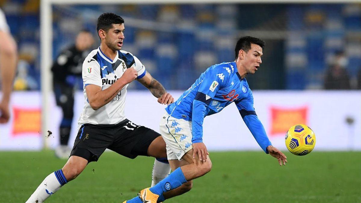 Cristian Romero e Hirving Lozano - Napoli-Atalanta Coppa Italia 2020-21