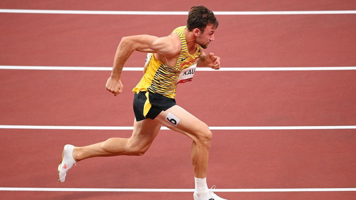 Niklas Kaul mit Verletzung bei 400 Meter im Olympia-Zehnkampf in Tokio am Start