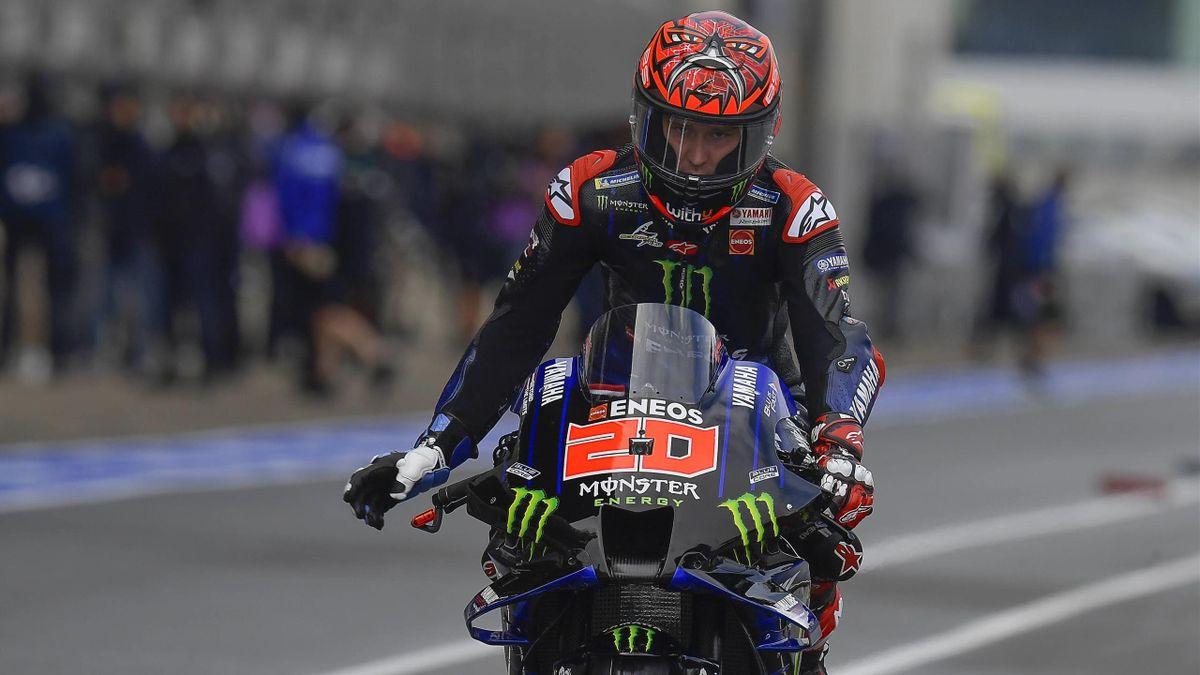 Fabio Quartararo (Yamaha Factory) lors des essais du Grand Prix de France, le 15 mai 2021