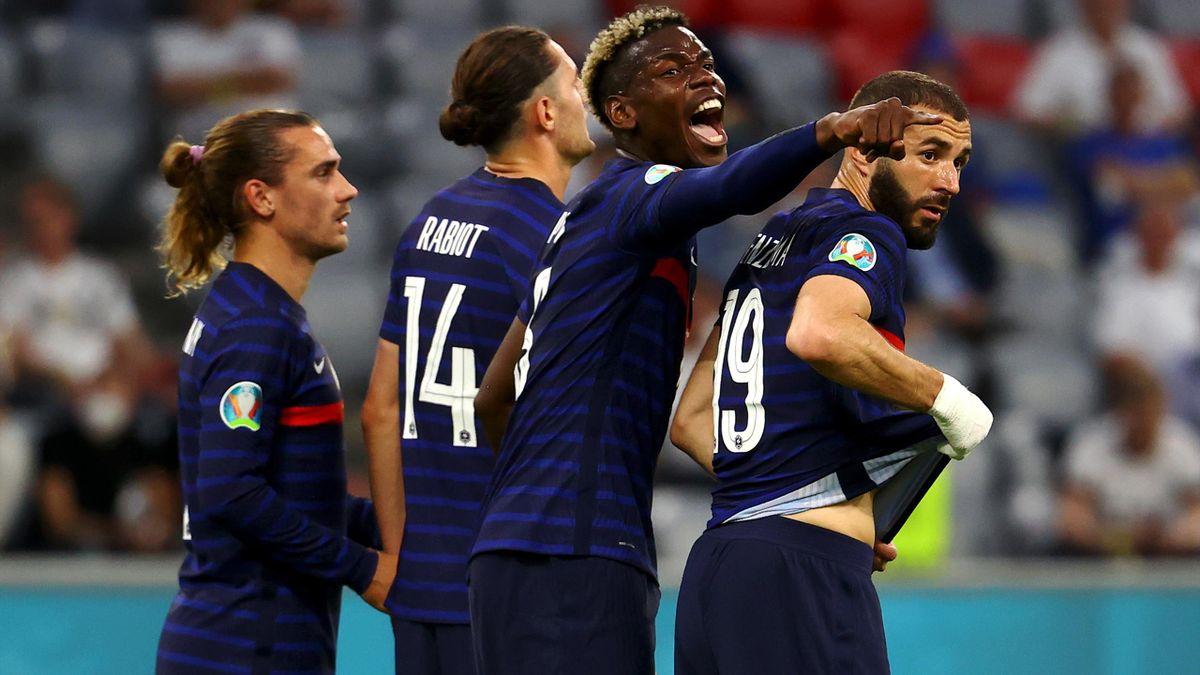 Paul Pogba (France) face à l'Allemagne
