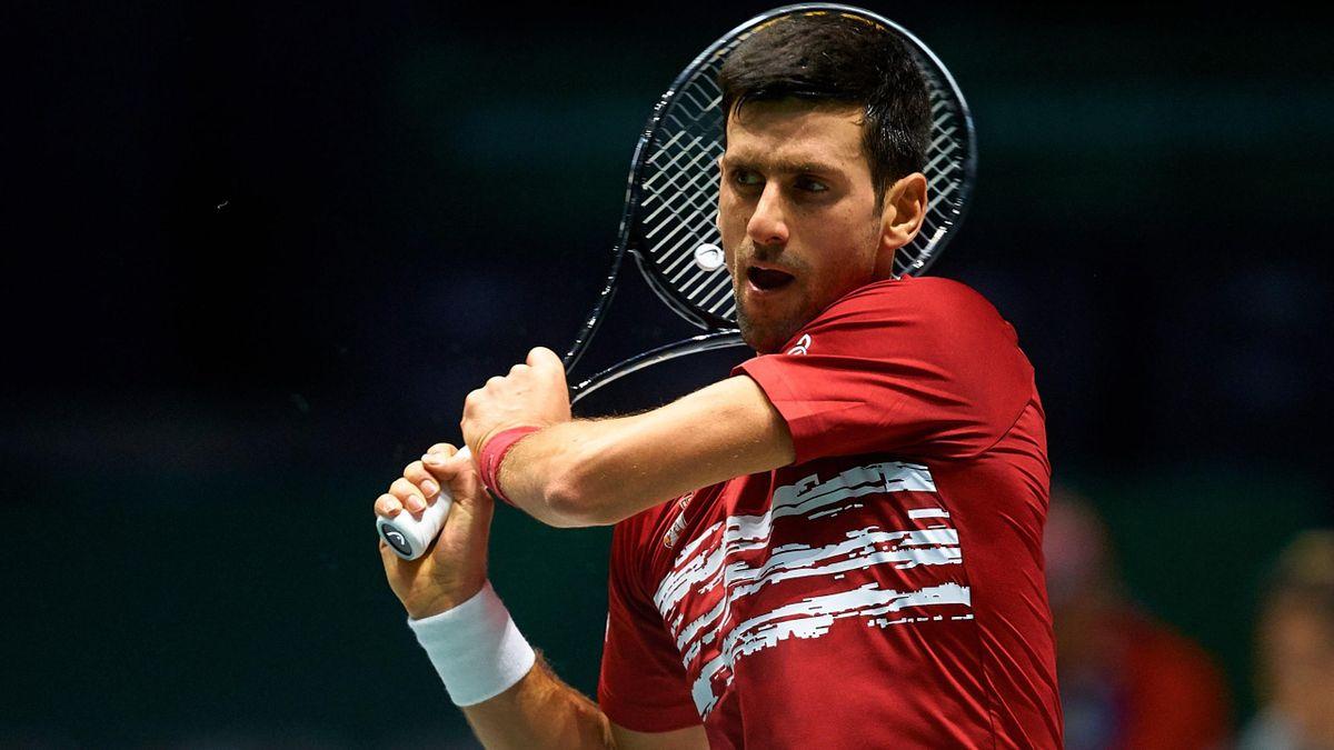Novak Djokovic (Serbie) pendant la Coupe Davis 2019
