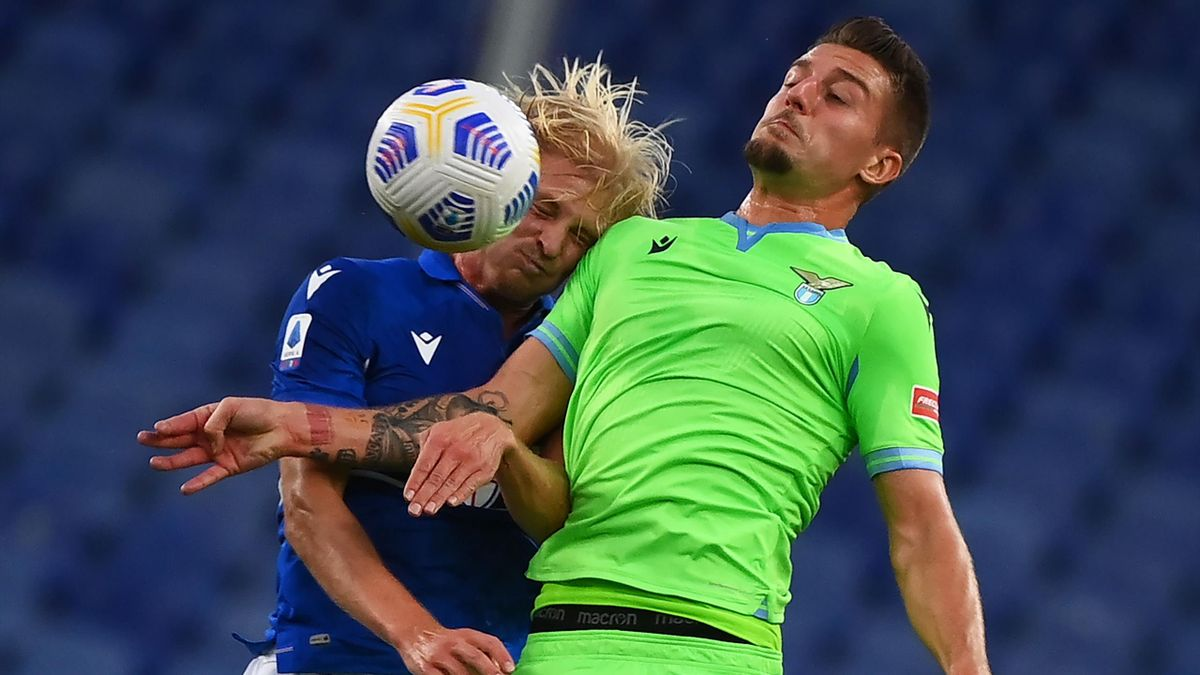 Morten Thorsby vs Sergej Milinkovic-Savic, Sampdoria-Lazio